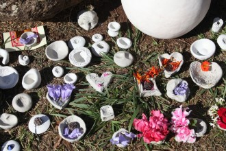 Tokens of love for those who have left our lives at the Crystal Castle Day of the Dead ceremony
